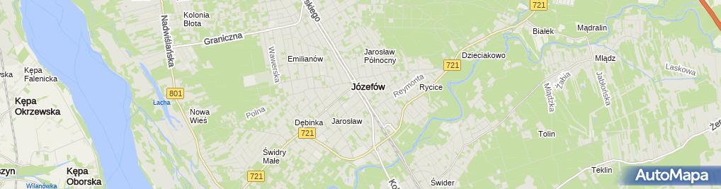 Zdjęcie satelitarne Kościół Jana Chrzciciela w Józefowie