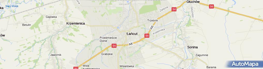 Zdjęcie satelitarne Łańcut - kościół św. Józefa (1)