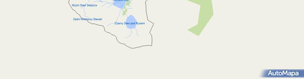 Zdjęcie satelitarne Rysy, widok spod szczytu