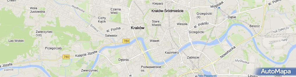 Zdjęcie satelitarne Sarkofag Św. Stanisława w Katedrze na Wawelu