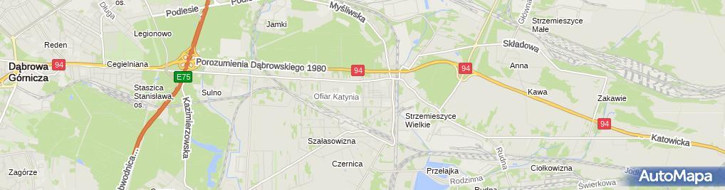 Zdjęcie satelitarne Strzemieszyce Kosciol