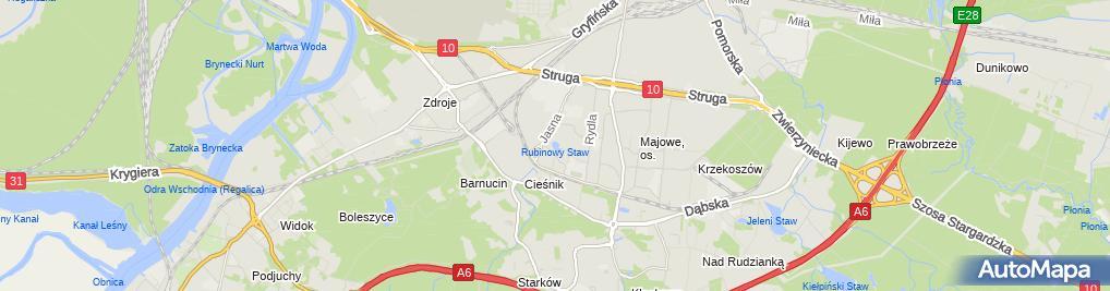 Zdjęcie satelitarne Szczecin Osiedle Sloneczne (2)