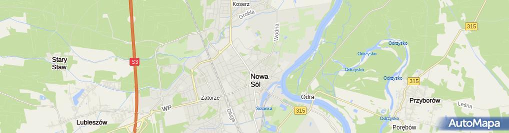Zdjęcie satelitarne Kościół Zielonoświątkowy