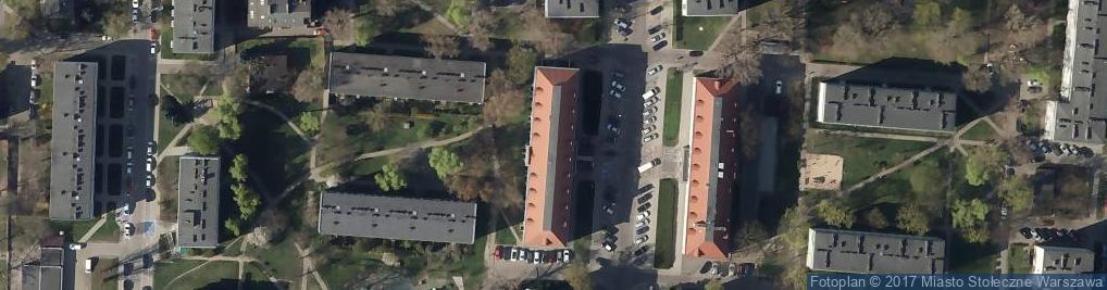 Zdjęcie satelitarne Urząd Skarbowy - Warszawa-Wawer