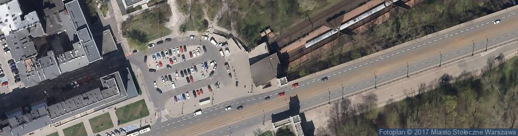 Zdjęcie satelitarne Warszawa Powiśle