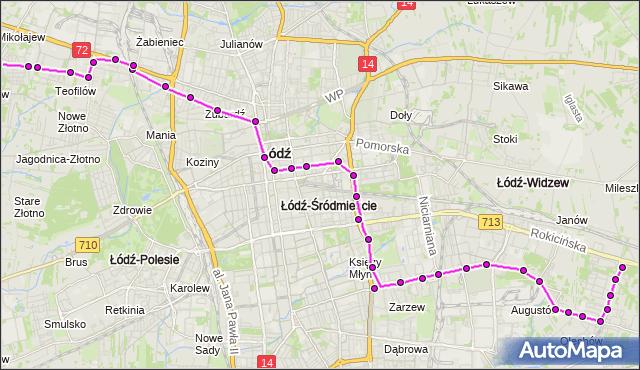 Rozkład jazdy autobusu 96 na przystanku Zakładowa/Odnowiciela. MPK Łódź na mapie Targeo