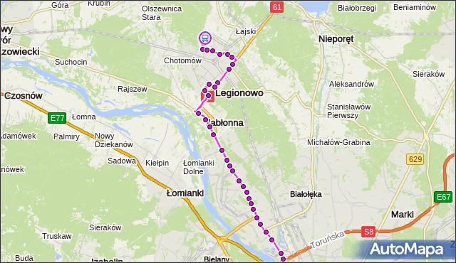 Rozkład jazdy autobusu 731 na przystanku OS.MŁODYCH 01. ZTM Warszawa na mapie Targeo