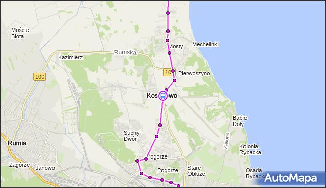 Rozkład jazdy autobusu 365 na przystanku Kosakowo. ZKMGdynia na mapie Targeo