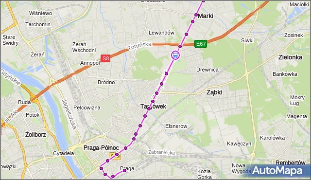 Rozkład jazdy autobusu 805 na przystanku WOLNOŚCI 01. ZTM Warszawa na mapie Targeo