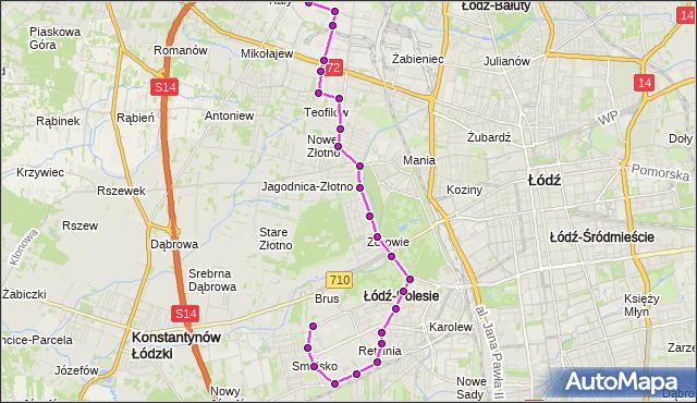Rozkład jazdy autobusu 76 na przystanku Retkińska/Wileńska. MPK Łódź na mapie Targeo
