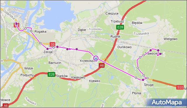 Rozkład jazdy autobusu 73Z na przystanku Zwierzyniecka 12. ZDiTM Szczecin na mapie Targeo