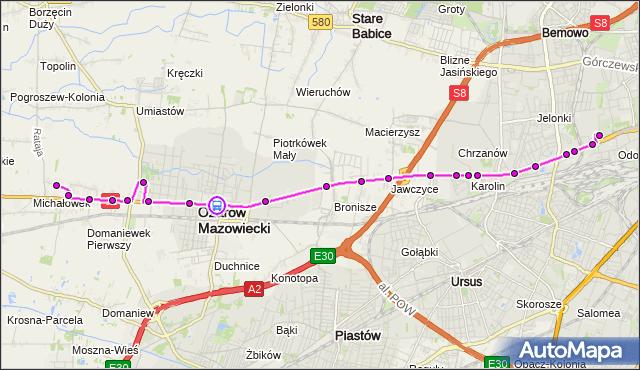 Rozkład jazdy autobusu 713 na przystanku SANKTUARIUM 02. ZTM Warszawa na mapie Targeo