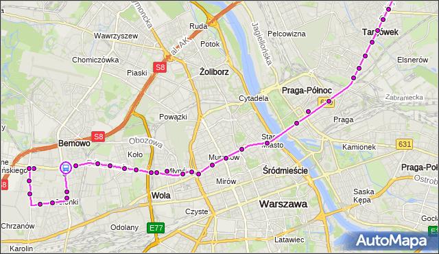 Rozkład jazdy autobusu 190 na przystanku BEMOWO-RATUSZ 01. ZTM Warszawa na mapie Targeo