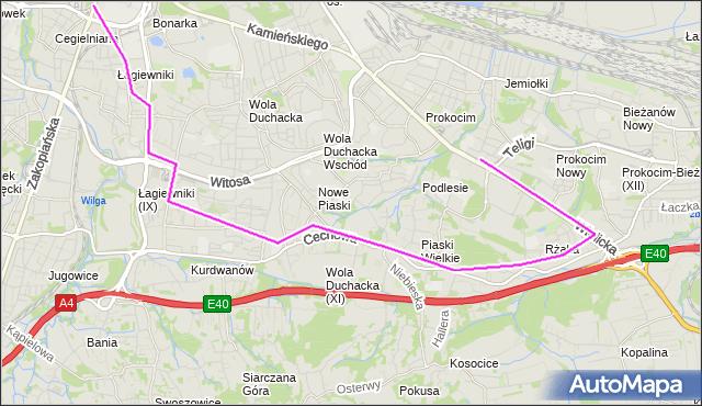 Autobus 133 - trasa Prokocim Szpital - Łagiewniki. MPKKrakow na mapie Targeo