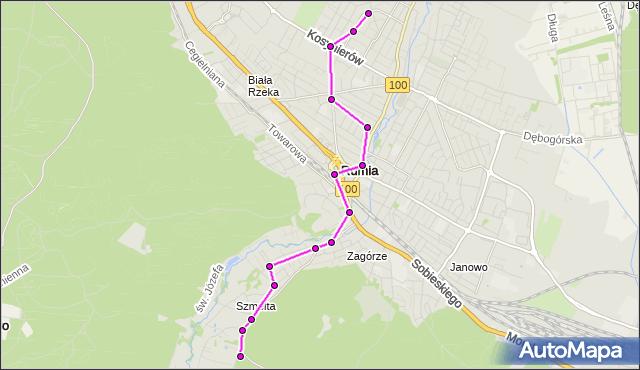 Autobus 85 - trasa 1 Maja - Rumia Szmelta. ZKMGdynia na mapie Targeo