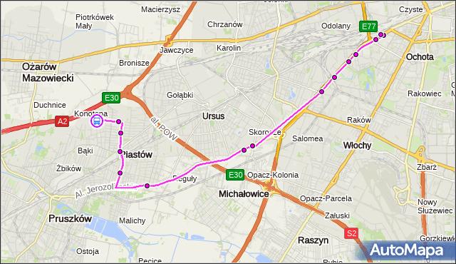 Rozkład jazdy autobusu 717 na przystanku OGIŃSKIEGO 02. ZTM Warszawa na mapie Targeo
