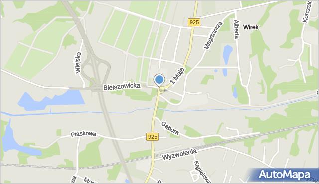 Ruda Śląska, 1 Maja, mapa Rudy Śląskiej