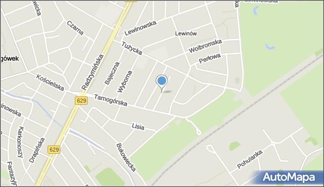 Warszawa, Agatowa, mapa Warszawy