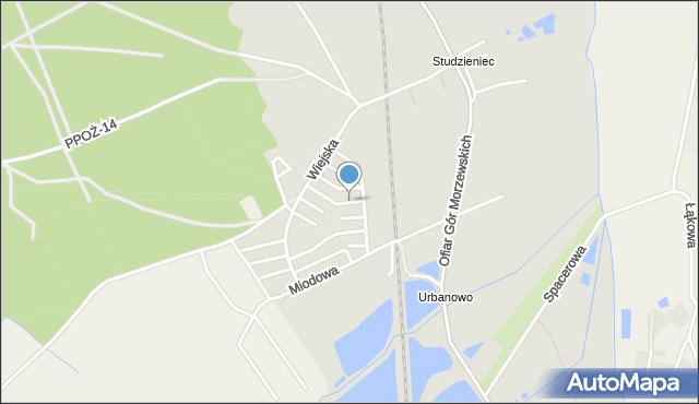 Chodzież, Akacjowa, mapa Chodzież