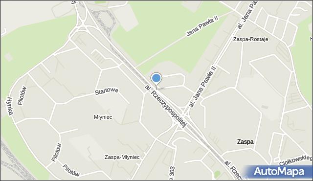 Gdańsk, Aleja Rzeczypospolitej, mapa Gdańska