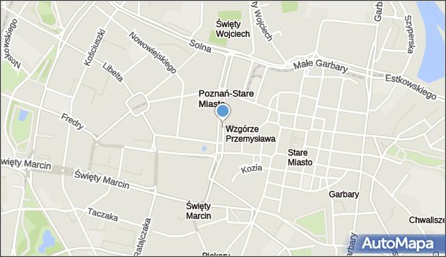 Poznań, Aleje Marcinkowskiego Karola, mapa Poznania