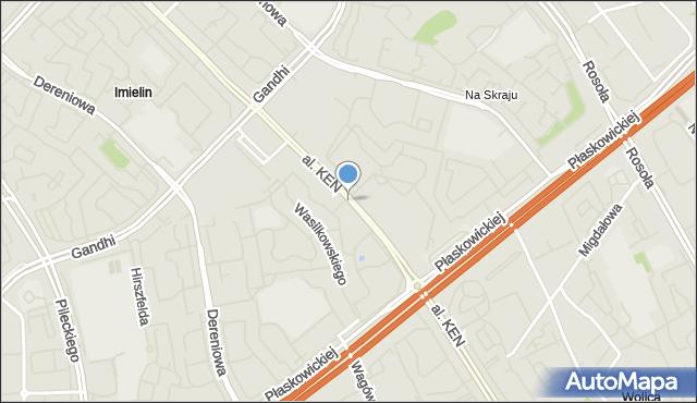 Warszawa, Aleja Komisji Edukacji Narodowej, mapa Warszawy