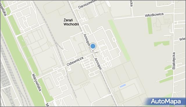 Warszawa, Annopol, mapa Warszawy