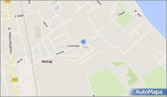 Sopot, Architektów, mapa Sopotu