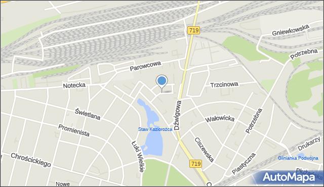 Warszawa, Atlasowa, mapa Warszawy