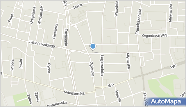 Łódź, Bałucki Rynek, mapa Łodzi