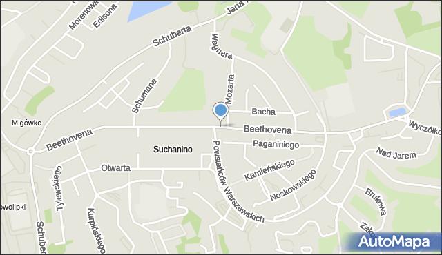 Gdańsk, Beethovena Ludwika, mapa Gdańska