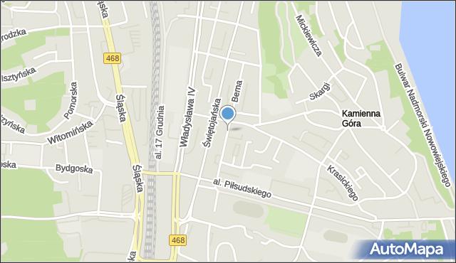 Gdynia, Bema Józefa, gen., mapa Gdyni