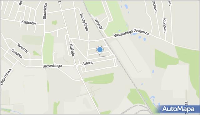 Radzionków, Bezpieczna, mapa Radzionków