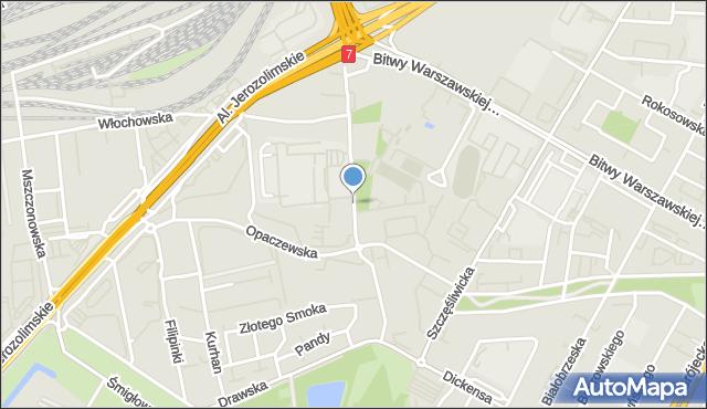 Warszawa, Bohaterów Września, al., mapa Warszawy