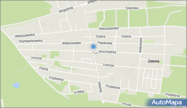 Warszawa, Brata Alberta, mapa Warszawy