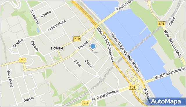 Warszawa, Bruna Juliana, mapa Warszawy