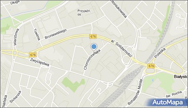 Białystok, Choroszczańska, mapa Białegostoku