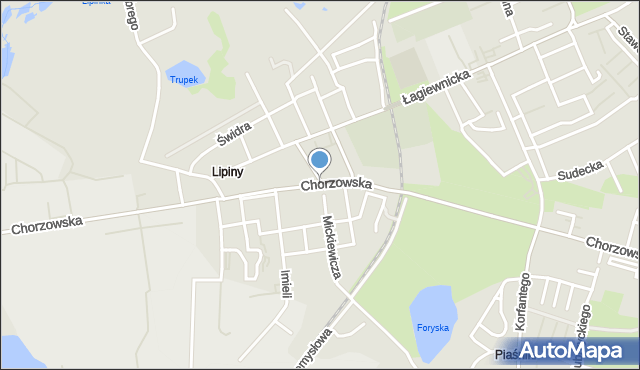 Świętochłowice, Chorzowska, mapa Świętochłowice