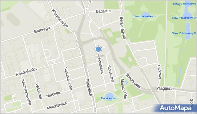 Warszawa, Chocimska, mapa Warszawy