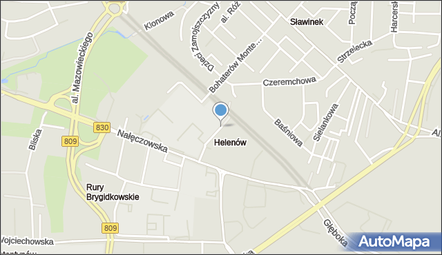 Lublin, Cisowa, mapa Lublina