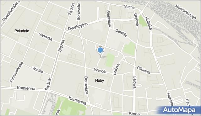 Wrocław, Ciepła, mapa Wrocławia