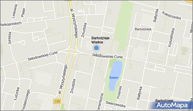 Bydgoszcz, Curie-Skłodowskiej Marii, mapa Bydgoszczy