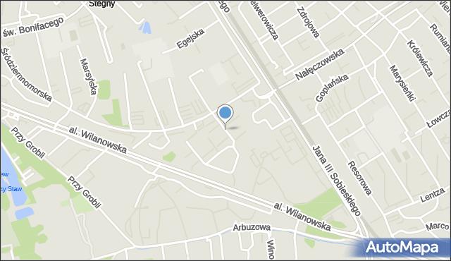 Warszawa, Cypryjska, mapa Warszawy