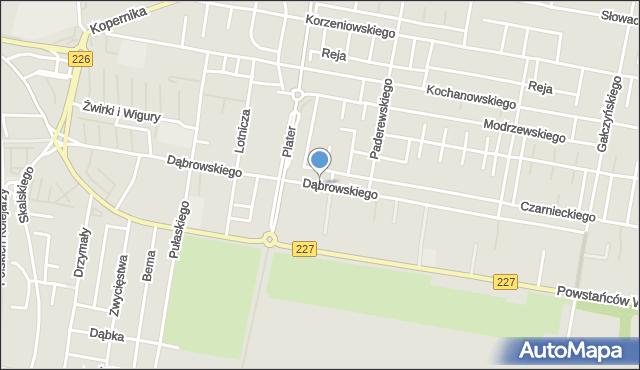 Pruszcz Gdański, Dąbrowskiego Jarosława, mapa Pruszcz Gdański