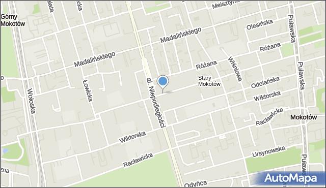 Warszawa, Dąbrowskiego Jarosława, mapa Warszawy