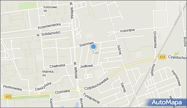 Opole, Dębowa, mapa Opola