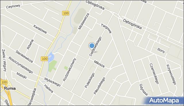 Rumia, Derdowskiego, mapa Rumia
