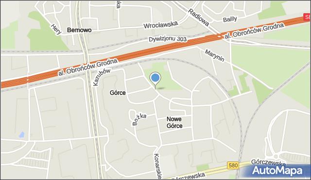 Warszawa, Dębicka, mapa Warszawy