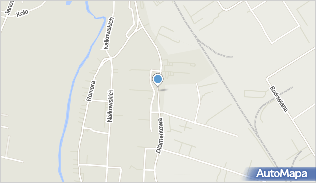 Lublin, Diamentowa, mapa Lublina