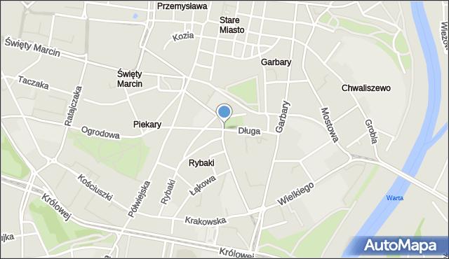 Poznań, Długa, mapa Poznania